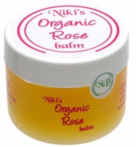 Niki's Organic Rose Balm, good for eczema, especially in the face